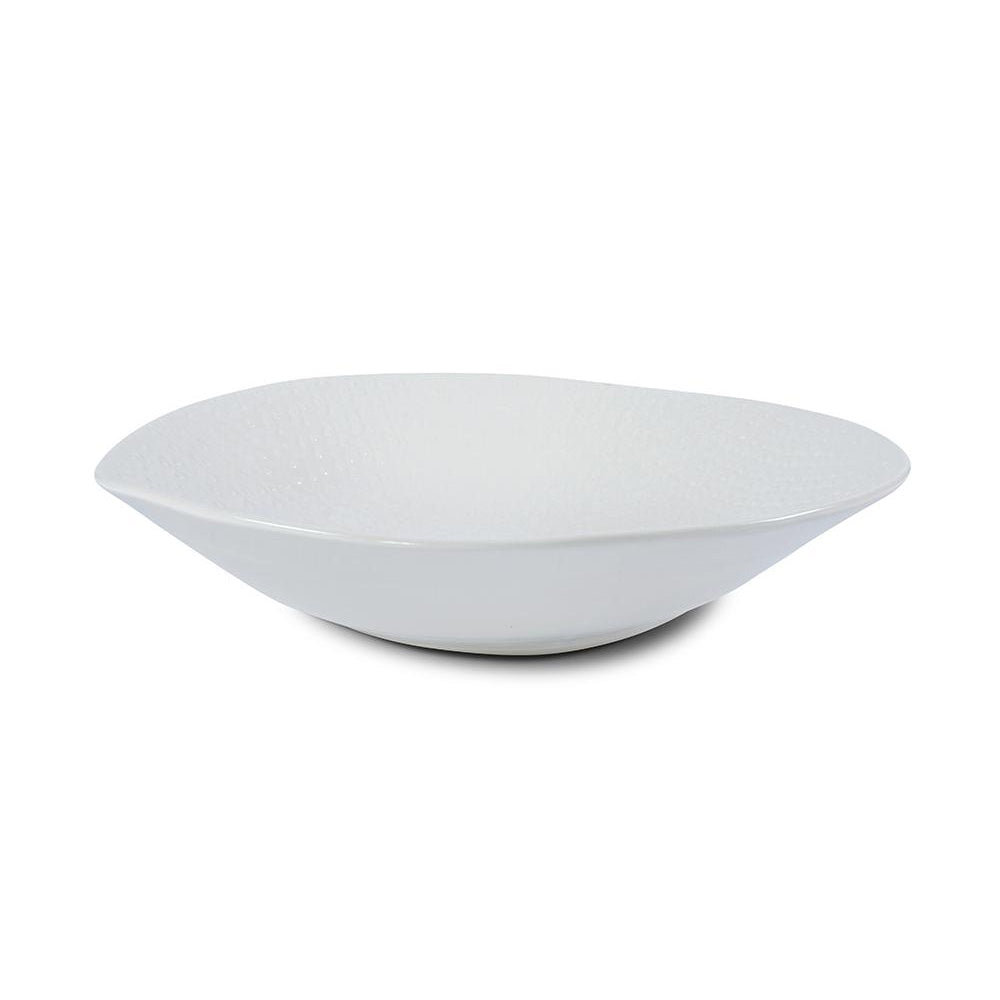 Flared Salad Bowl White Lace