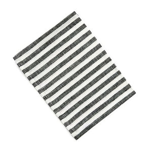 Linen Kitchen Cloth BW Stripe