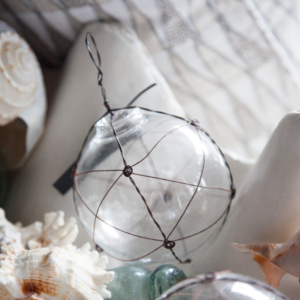 Round Glass and Wire Ball