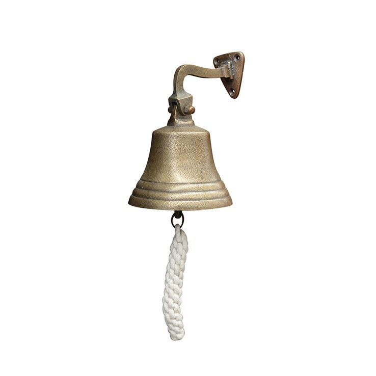 Ship Bell in Raw Brass Finish