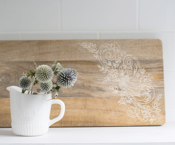 Fleur Mango Wood Rectangular Board Small
