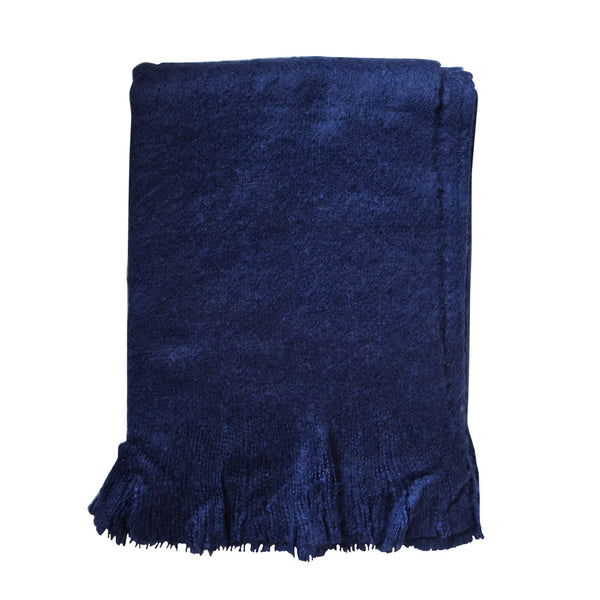 Throw Fringe Navy Blue