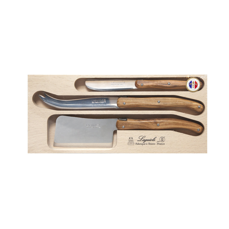 Debutant 3pc Cheese Knife Set Olive Wood