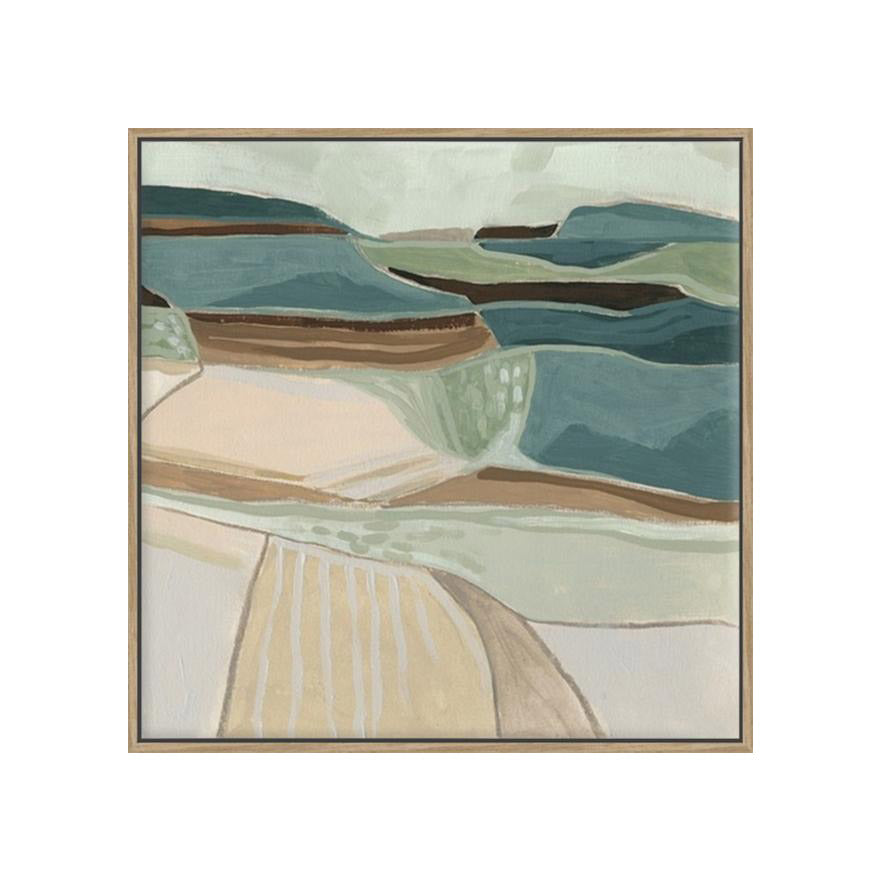 Land and Sea I Framed Canvas Print