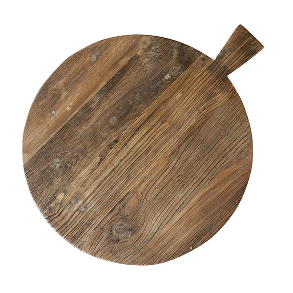 Round Elm Board with Handle