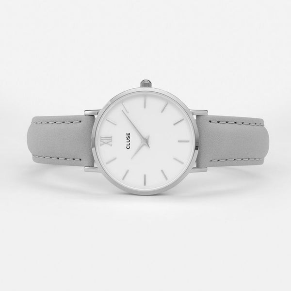 Cluse Minuit Silver White Watch