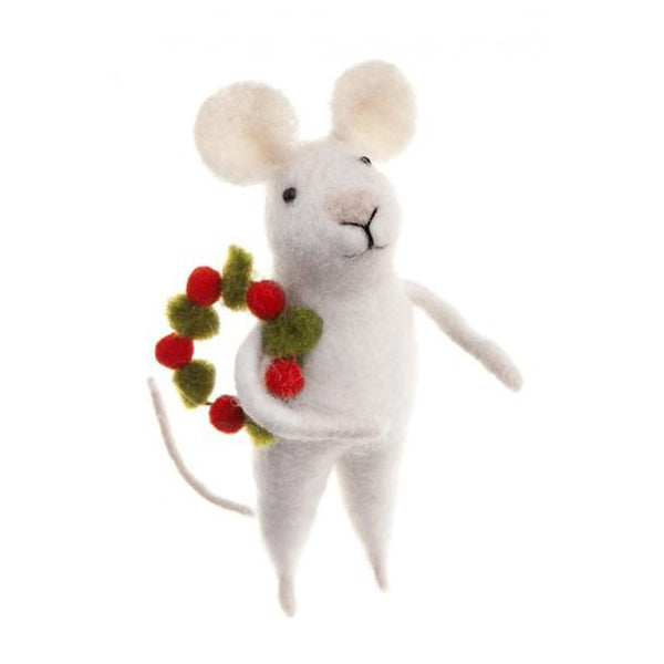 Mouse with Wreath