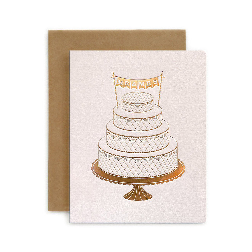 Mr & Mrs Cake Wedding Card