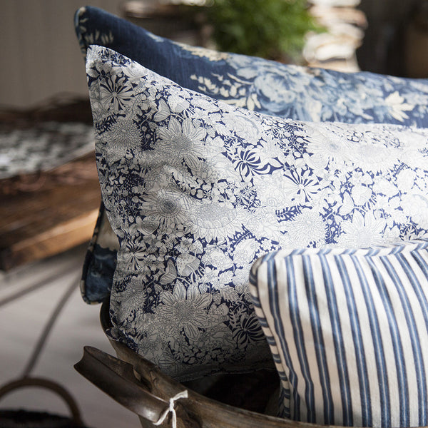 Navy Floral Cushion
