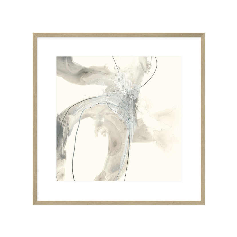Abstract painting in neutral colours.