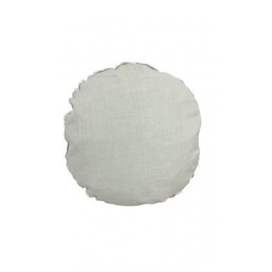 Linen Mint Round Cushion