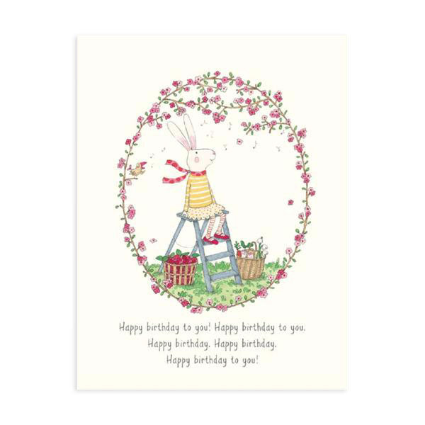 Happy Birthday Ruby Flowers Card