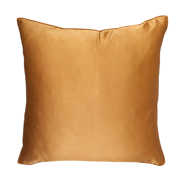 Rust Velvet Silk Cushion