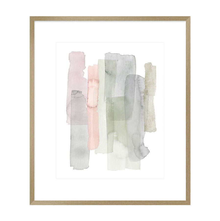 abstract watercolour painting  in frame.