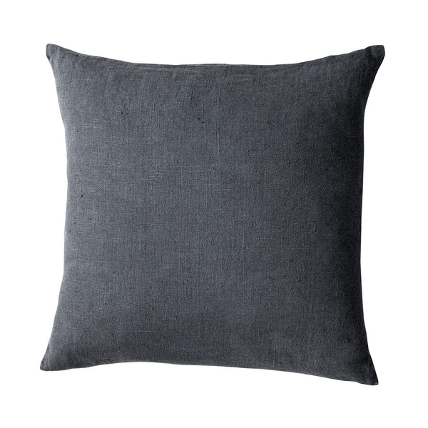 Stonewashed Linen Cushion Navy