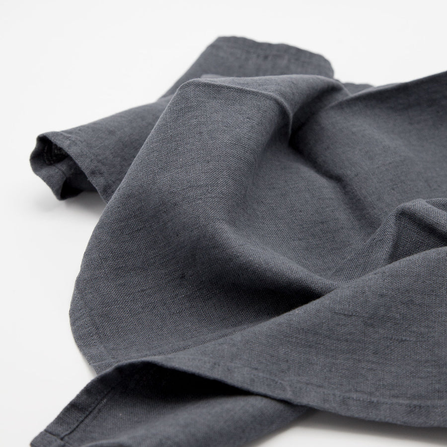 Linen Tea Towel Charcoal
