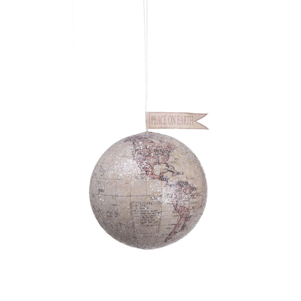 Peace on Earth Globe Decoration