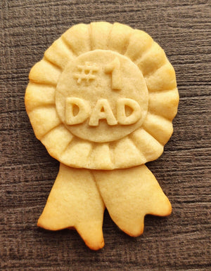 #1 Dad Blue Ribbon Cookie Mold