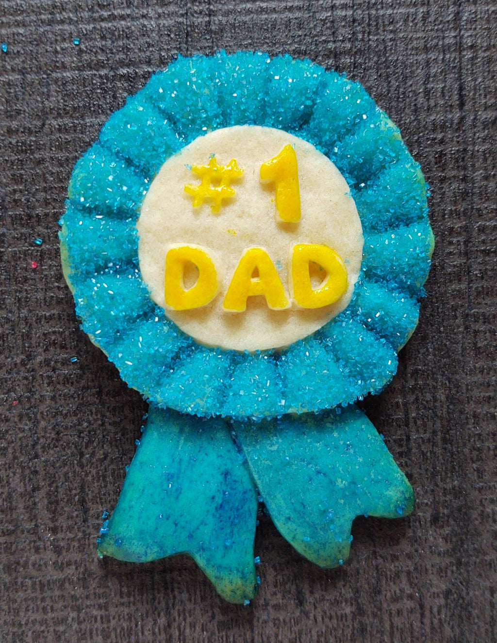 #1 Dad Blue Ribbon Silicone Cookie Mold