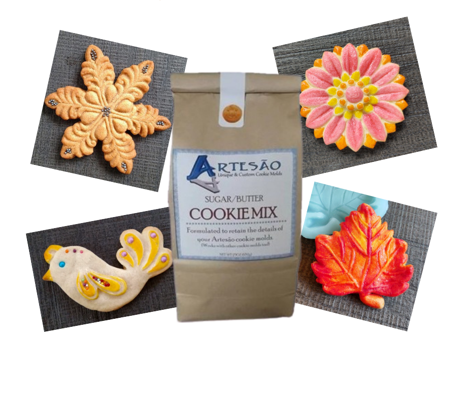 4 Seasons Silicone Cookie Mold Set With Cookie Mix- SAVE $5