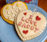 """I LOVE DADDY"" Cookie Mold - Artesão Unique & Custom Cookie Molds"