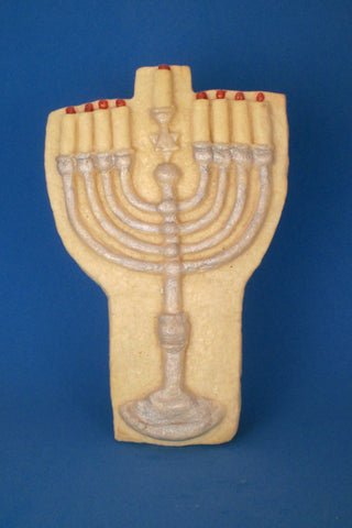 Menorah Cookie Mold - Artesão Unique & Custom Cookie Molds
