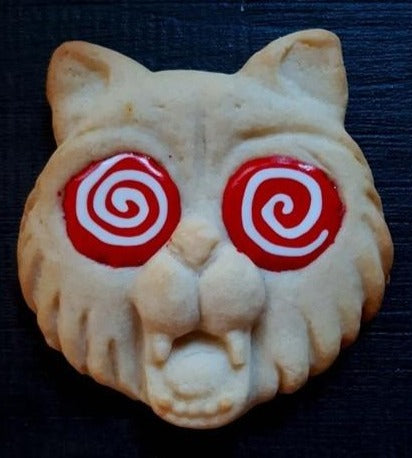 Scaredy Cat Halloween Silicone Cookie Mold