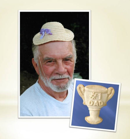 #1 Dad Trophy Cookie Mold - Artesão Unique & Custom Cookie Molds