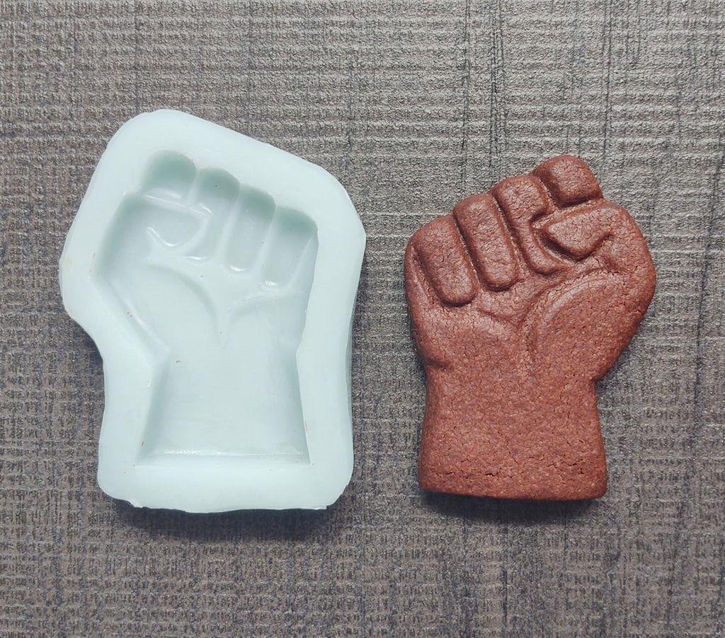 Fist Protest Give Back Cookie Mold