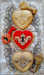 Heart Lock & Key Cookie Mold Set - Artesão Unique & Custom Cookie Molds