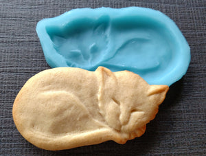 Kitty Cat Silicone Cookie Mold