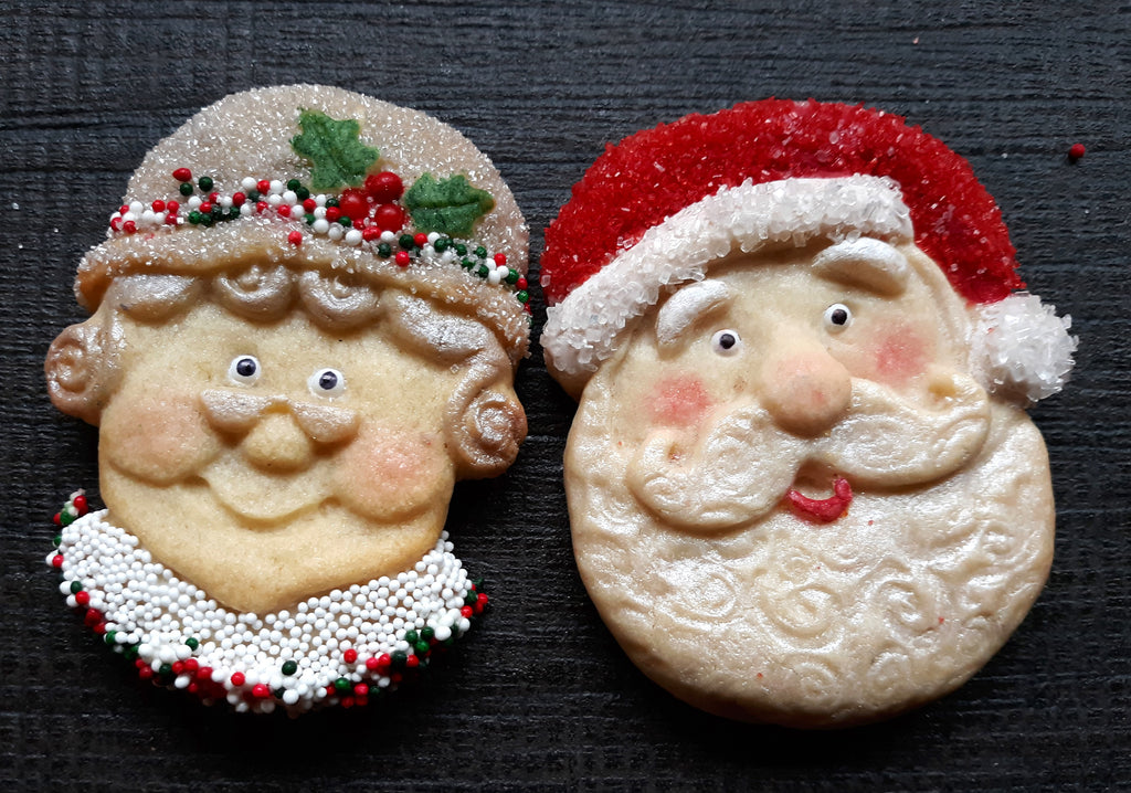 Mr and Mrs Santa Claus Silicone Cookie Mold Set-$4