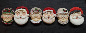 Mr and Mrs Santa Claus Set-$4