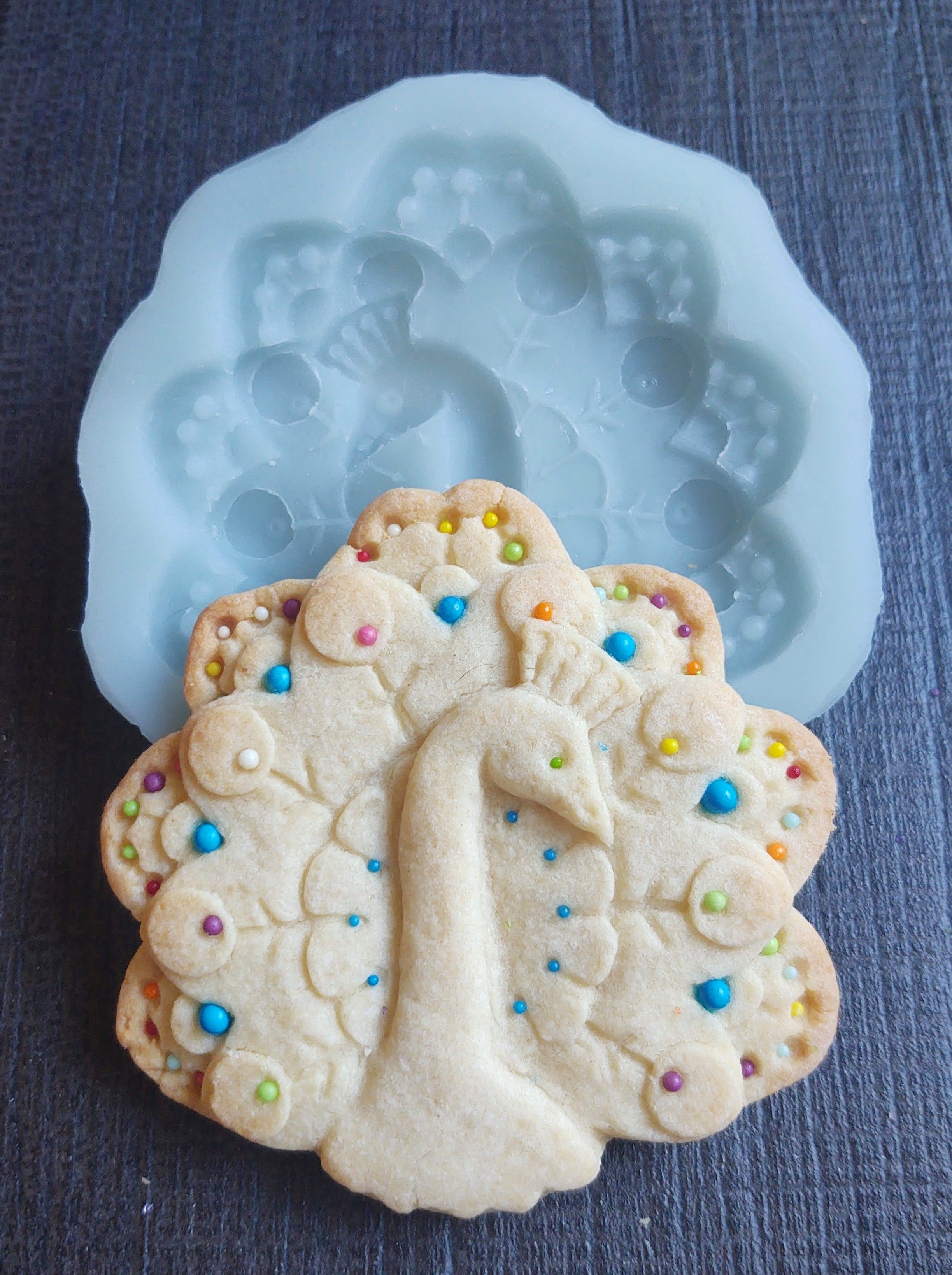 Peacock Silicone Cookie mold