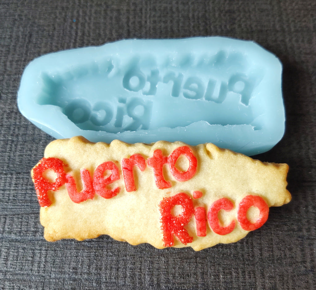 Puerto Rico Give Back Cookie Mold
