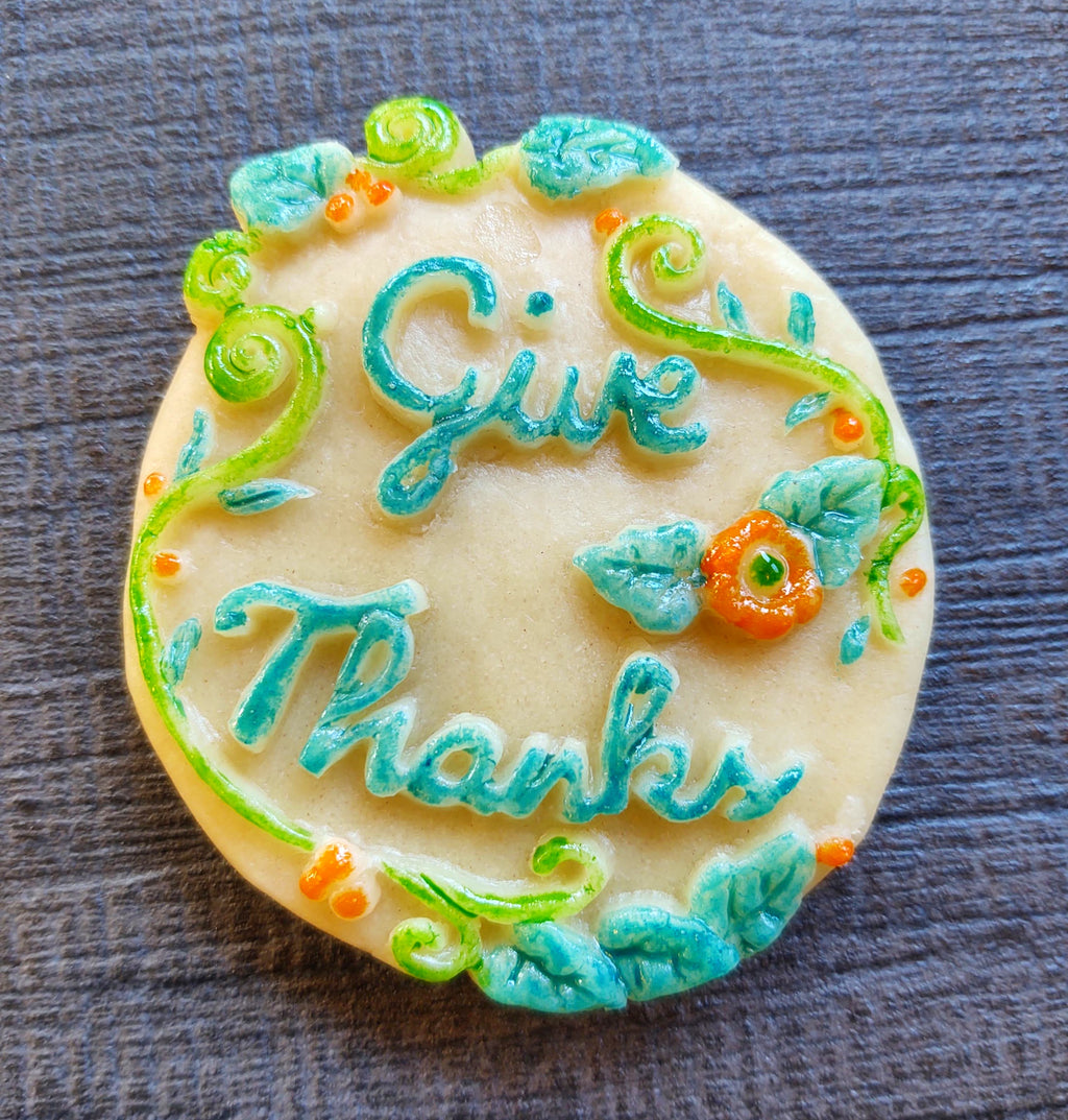 Give Thanks Silicone Cookie Mold