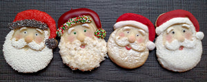 Santa Face Cookie Mold - Artesão Unique & Custom Cookie Molds