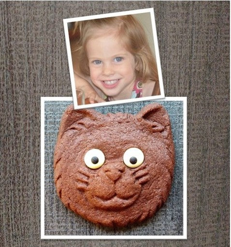 Sophia's Kitty (St. Baldrick's) Give Back Cookie Mold