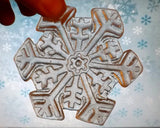 Snowflake Medium Cookie Mold - Artesão Unique & Custom Cookie Molds