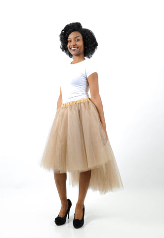 QT Couture High/Low Lined Tulle Skirt, Skirt, QT Couture