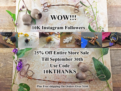 WOW!!!!! 10K Instagram Followers Store Wide Sale - Leaf Seed Pod Shell