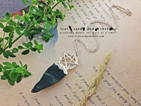 New Collection - Mystical/Gothic - Leaf Seed Pod Shell