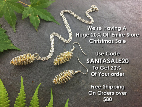 HUGE 20% OFF STORE SALE - Leaf Seed Pod Shell