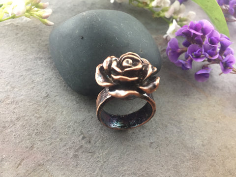 Flower Ring Size 6 - Antique Copper - Cat No 1085