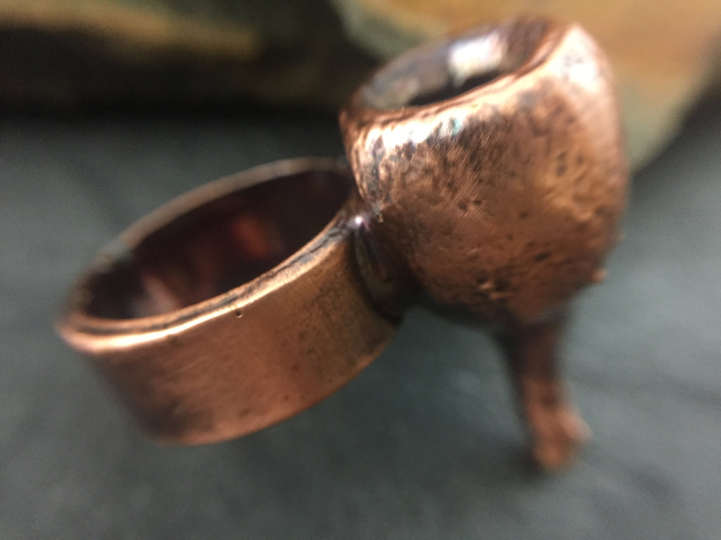Gum Nut Ring Size 6 - Antique Copper - Cat No 1095