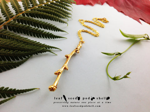 Twig Pendant - Gold - Cat No 664