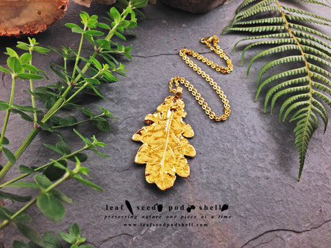 Oak Leaf Pendant - Gold - Cat No 672