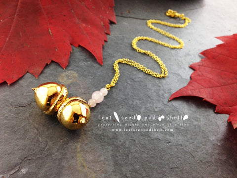 Acorn Pendant - Gold - Cat No 647