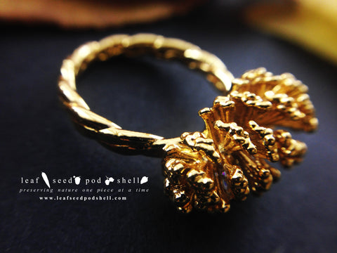 Pine Cone Ring - Gold - Cat No 731