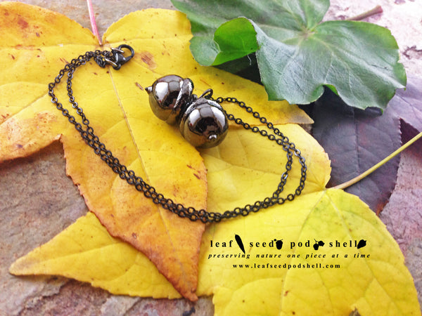 Acorn Pendant - Black Nickel - Cat No 741